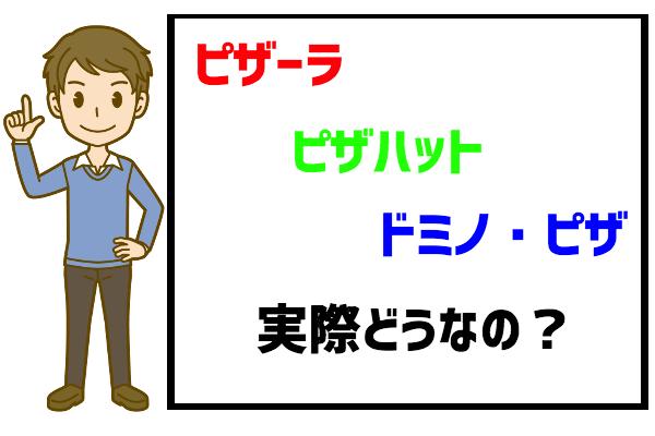 デリバリーピザのバイト評判・口コミ