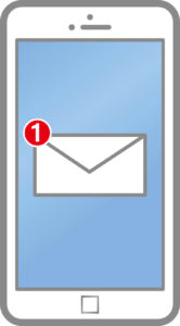 STEP2:派遣会社からメールまたは電話で連絡が来る