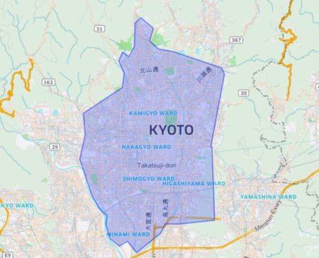 京都のUber Eats(ウーバーイーツ)配達パートナーが働けるエリアは?
